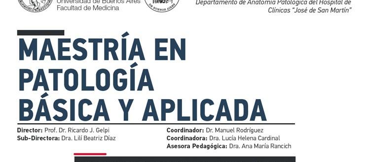 SAP – Sociedad Argentina de Patología » Maestría en Patología Básica ...